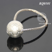 Steel Wire 3D Mini Metal Soccer Ball Keyring