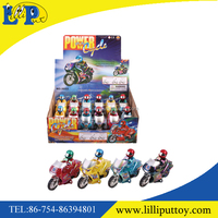 4 style assorted plastic friction power motorcycle toy