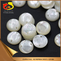 Round Cabochon Natural mother of pearls shell stone