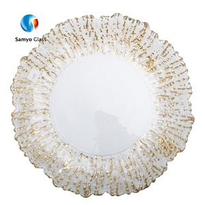 wholesale wedding tableware decoration gold charger plates