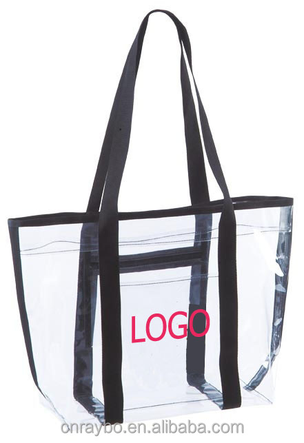 Clear vinyl Shopping Tote Bag