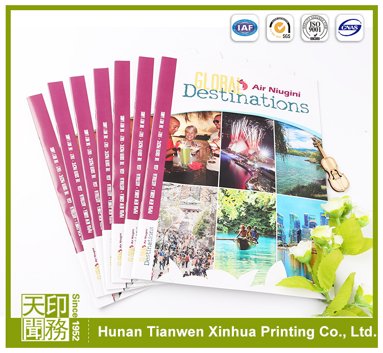 Section Sewn Catalogue Magazine offset printing pvc plastic sheet