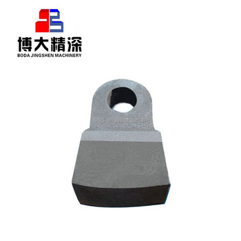 High manganese crusher swing hammer parts