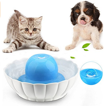 Super Silent Ceramic Pet Fountain for Dogs or Cats Sturdy Healthy Drinking Water Bowl 2.1L / 74 Oz
