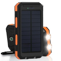 PowerGreen Compass Design Solar Phone Battery 10000mAh Solar Charger with LED Light