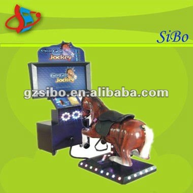 GM3331 horse riding simulator game, toy race horse, horse racing game machine