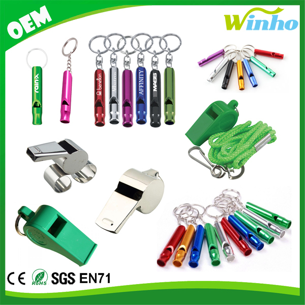 Winho Emergency Hiking Camping Survival Aluminum Whistle Key Chain