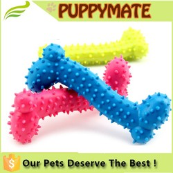 Small Bone design Dog and Cat silicone Rubber toy Dog Chew toy