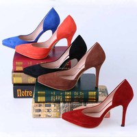 Women's Cymn Pointed Toe High Heel Pumps Slip on Party Dress Stiletto Shoes