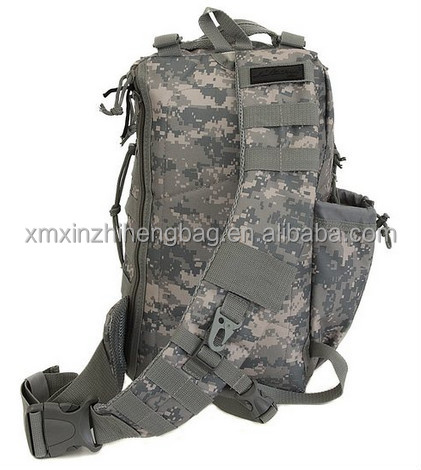 2015 XIAMEN Mens Tactical Gear Hydration Ready Sling Shoulder tactical backpack