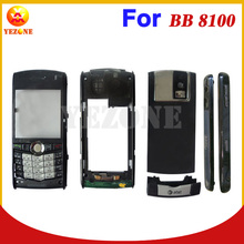 Grey Red Color Mobile Phone Full Housing Cover Case Faceplate+Middleplate+Back Cover+Slide Plate For BlackBerry Pearl 8100