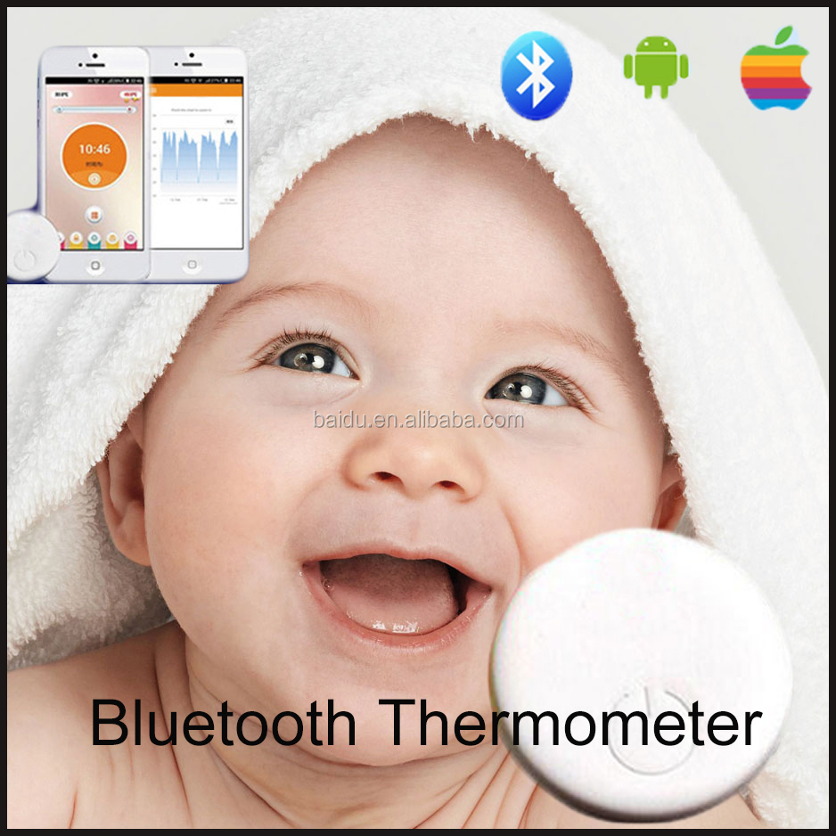2016 New Children intelligent wearable electronic thermometer wireless Bluetooth smart baby monitor household thermometer