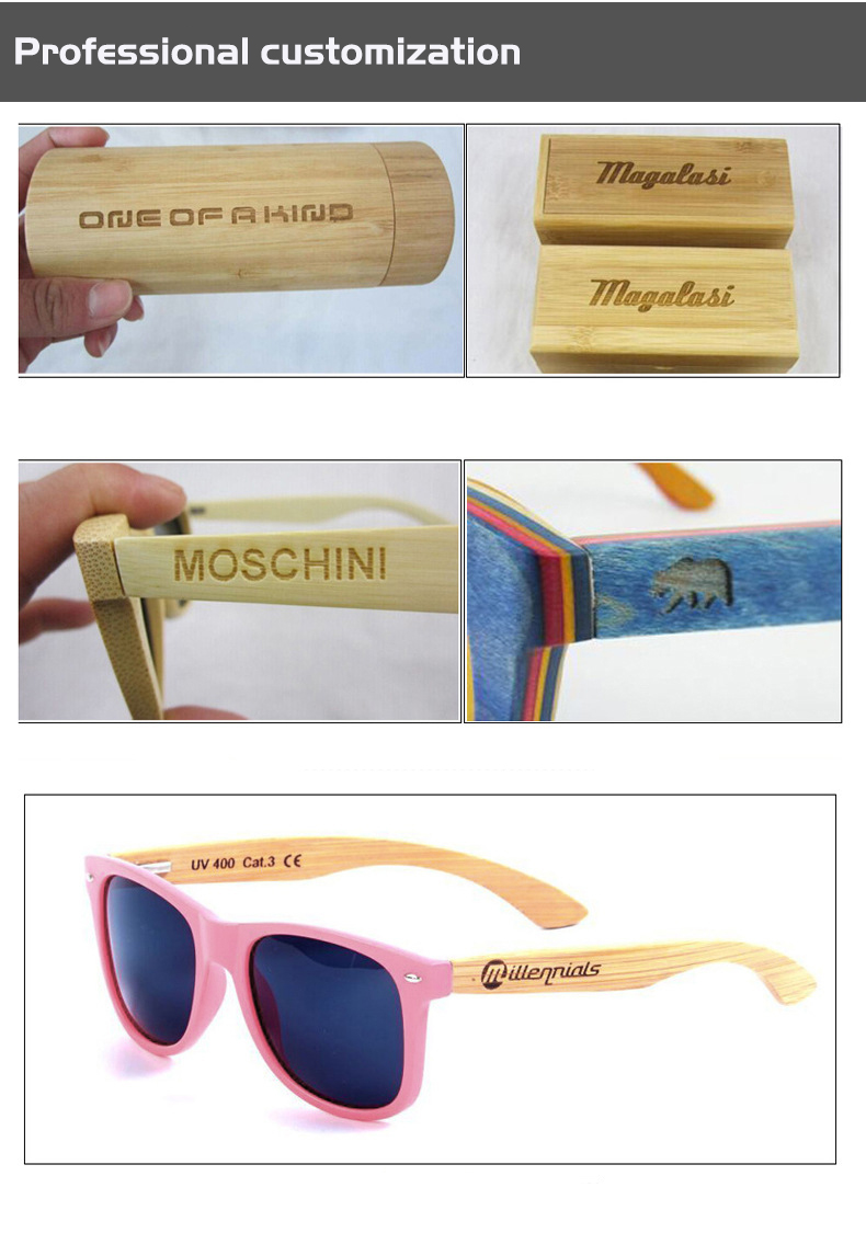 AZB 2017 Wooden New Round Sunglasses Cat Eye Retro Coating Polarized Real Bamboo And Wood Glasses Pure Handmade Sunglasses