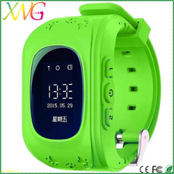 mtk6261 android 4.4 baby smart watch q50 with sos,gps,pedometer for children