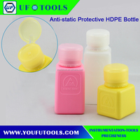 Anti-static protective HDPE bottle plastic travel bottles ESD alcohol bottle