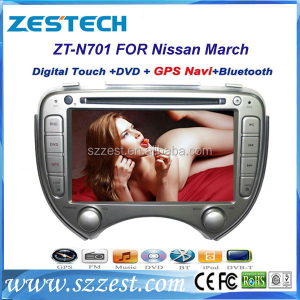 ZESTECH car auto radio / car audio for NISSAN MARCH with GPS navigation