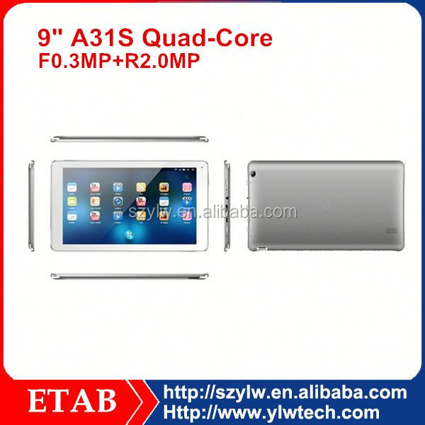 9.7 inch IPS 1024*768 A31S Quad core 9.7 inch touch screen tablet pc
