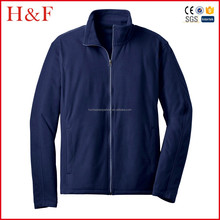 Soft navy fishing fleece jacket polyester warm plain sea outer jacket