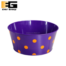 Metal Colorful Round Flower Pot Fancy Table Decorations