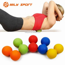 New Double Lacrosse Massage Ball For Muscle Relax Handheld Peanut Massage Ball