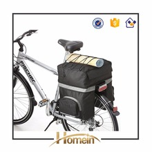 2017 High Quality Black Bag Bicycle Double Rear Rack Pannier Bag 3 fach