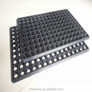 Rubber Safety Mat Anti Fatigue Kitchen Flooring Drainage Hole mat