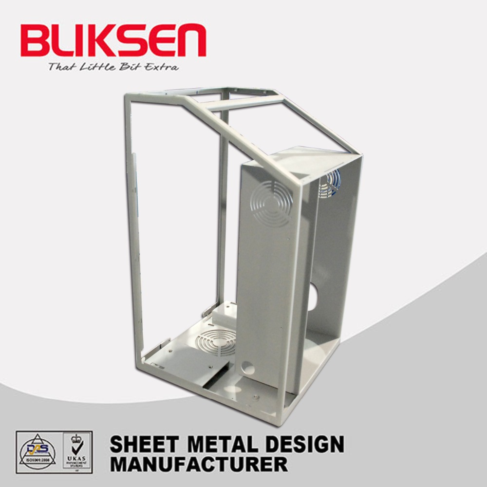 Sheet metal processing electrical panel meter cabinet