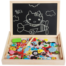 FQ brand wholesale custom design OEM child wooden magnetic kids drawing educational board toys