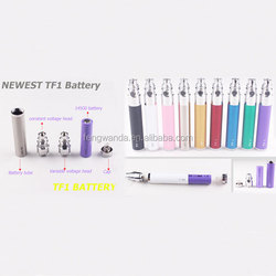 Factory price Electronic cigarette wholesale TF1 battery rechargable variable voltage ego TF1 e cig battery
