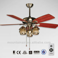 4 Blades Decorative Lighting Ceiling Fan Stainless Steel
