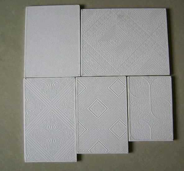 Classic white pvc gypsum board /gypsum ceiling tiles for interior decoration