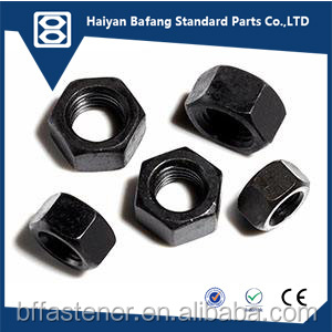 DIN934 China OEM black bolts and nuts hexagon nuts
