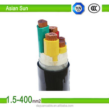 0.6|1kv low voltage 5 core 16mm2 copper conductor XLPE insulated PVC sheathed power cable electric cable