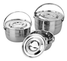 6PCS Indian Pot Sets Stainless Steel Cooking Pots with Handle