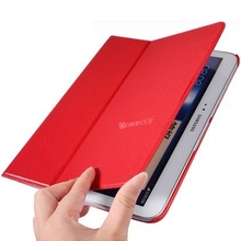 2014 new arrival products chinese red color leather case for samsung tablet 3 protective leather cover china manufactuers