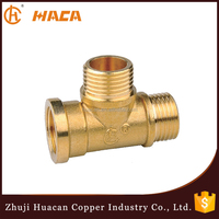 Wholesale Alibaba Brass Tube Fitting Union 2 male 1 female brass tee fitting Connector joint