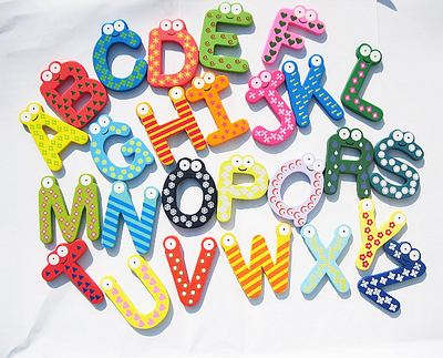 Learning Resources Toy and Game for Kids Magnetic Wooden letters