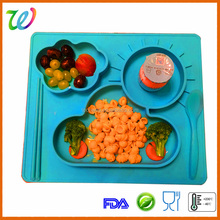 Dishwasher safe extra large chinese silicone placemat for children