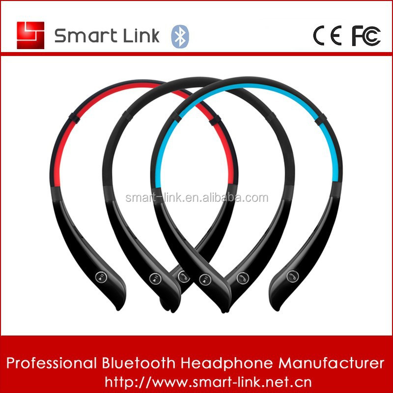 new design bluetooth earphone headset neckband Wireless earplug headphones