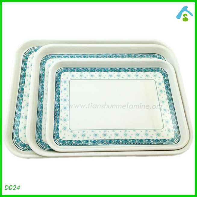 3 piece elegant Chinese tray melamine serving tray set