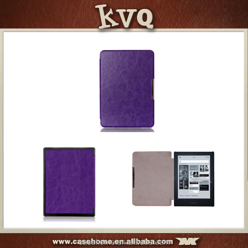 E Reader Pu Leather Case For Kobo Aura H2O Smart Cover
