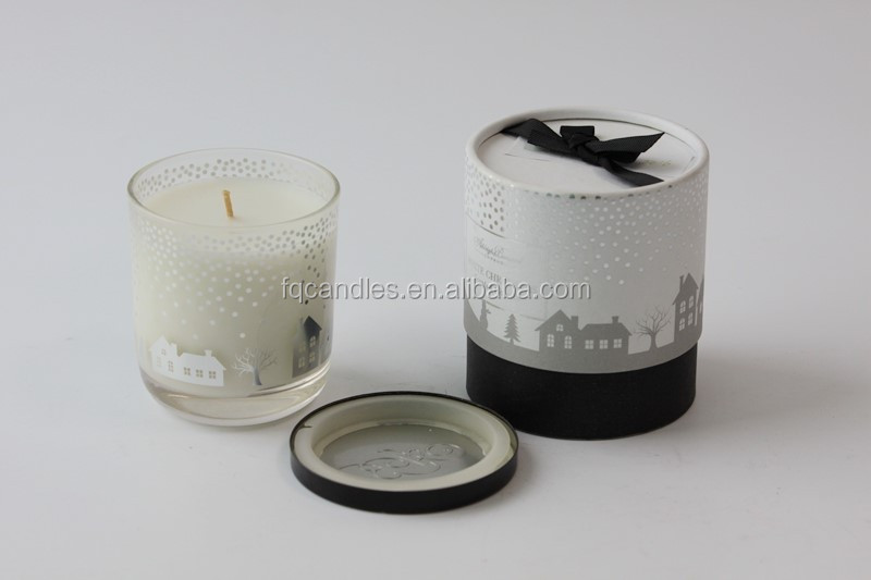 soy candle scented personalized scented candle in glass jar luxury with box