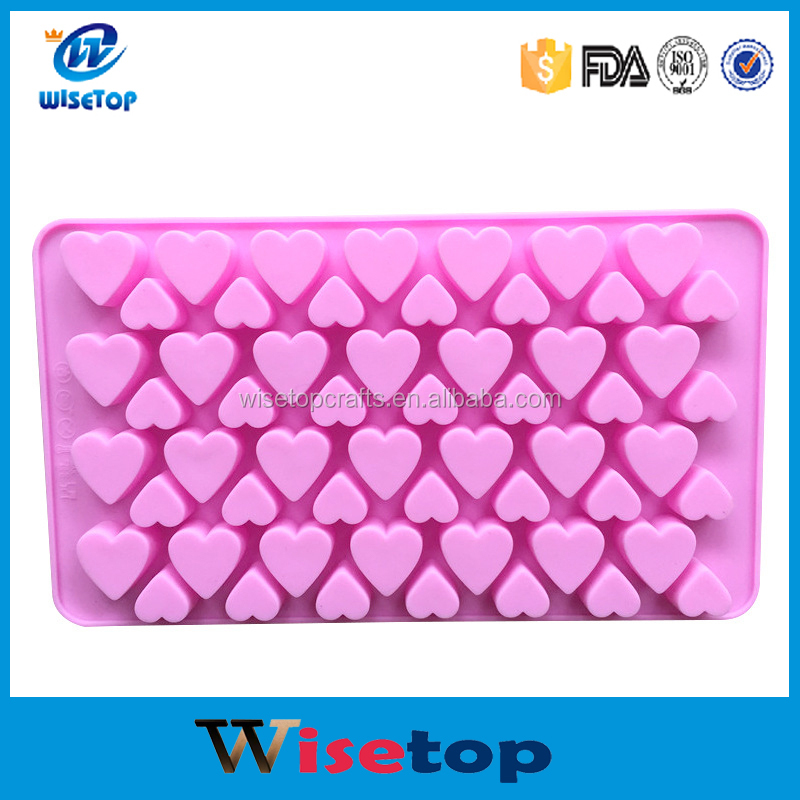 New Design 56 Grids Big Small Heart Shape Chocolate Fondant Cake Cookie DIY Silicone Mold Decorating Tools Soap Mold