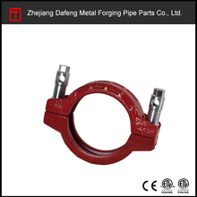 ISO 9001 carbon steel red concrete pipe coupling clamp