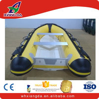China speed pontoon fiberglass open boat