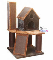 Beautiful Wood Cat Tree House