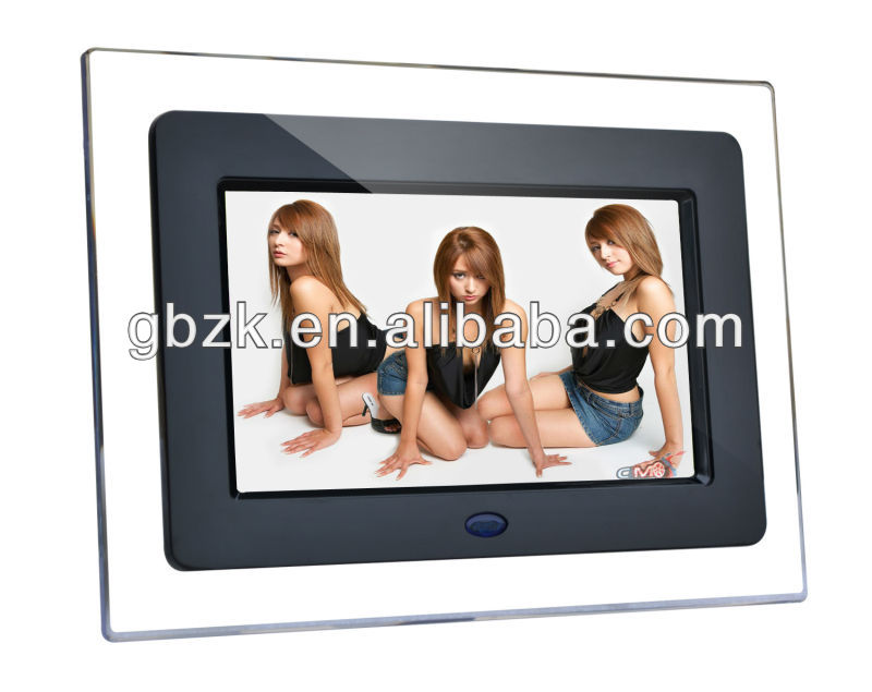 7 inch mini digital photo frame with clock
