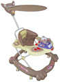 Cheap lovely walker with light head and roof High quality baby walker with music