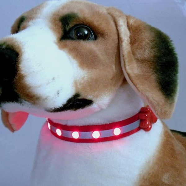Best selling products christmas led dog collar with custom logo