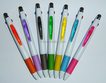 Multi color 4 in 1 touch top stylus Plastic Logo Ball Pen heat transfer print cartoon pen back to school SA8000 Sedex SMETA 4